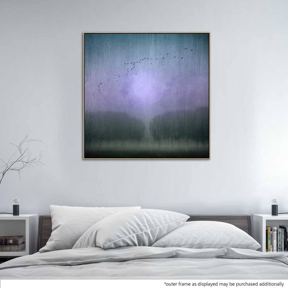Mauve Mist Canvas Print with Floating Frame