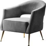 Adley Armchair Grey Velvet