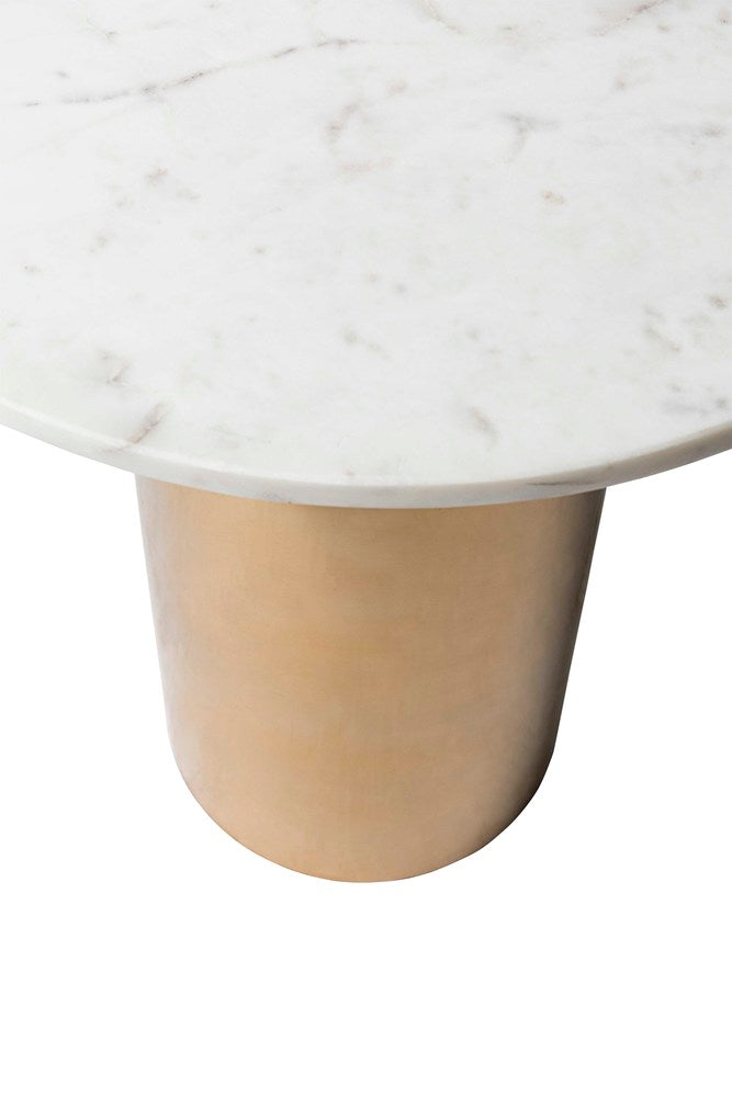 Jantzen Brass Side Table with Marble
