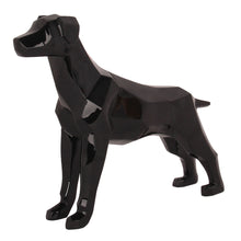 Geometric Dog Sculpture Black