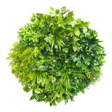 Artificial Indoor Green Wall Disc Art Mixed Aloe Vera 80cm