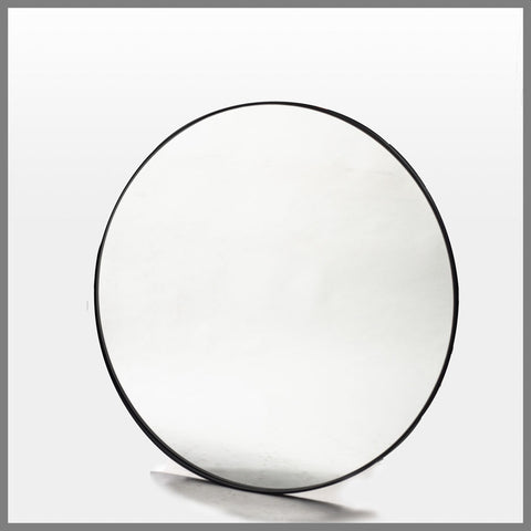 Bouvier Metal Round Mirror Black