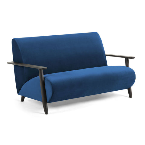 Nelson Sofa Dark Blue Velvet