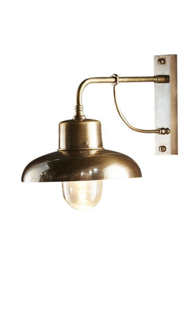 Indoor/Outdoor Bridgewater Wall Lamp Antique Brass