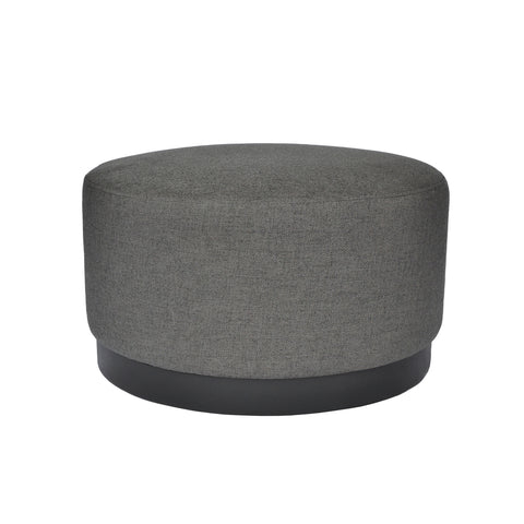Tribeca Ottoman Charcoal with Dark Base Medium