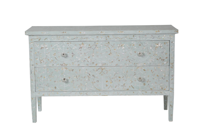 Clarissa Mother Of Pearl 2 Drawer Chest