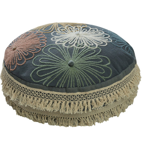 Capella Flores Round Floor Cushion/Ottoman