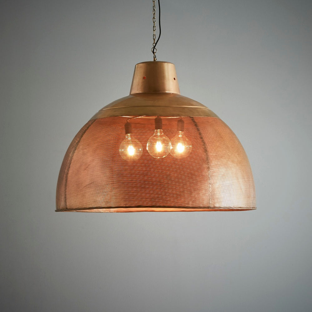 Factory Brass Pendant Extra Large