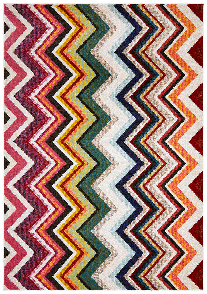 Loti Modern Multi Coloured Rug