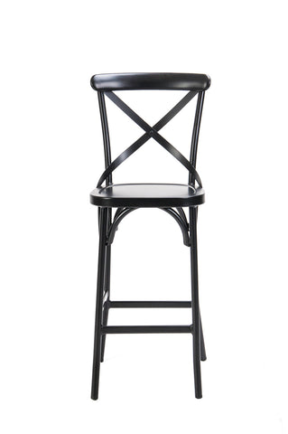 Ruelle Indoor/Outdoor Bar Chair Matt Black