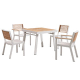 Bocage 5 Piece Dining Setting White