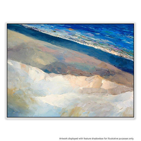 Back Beach Dreaming Canvas Painting with Floating Frame