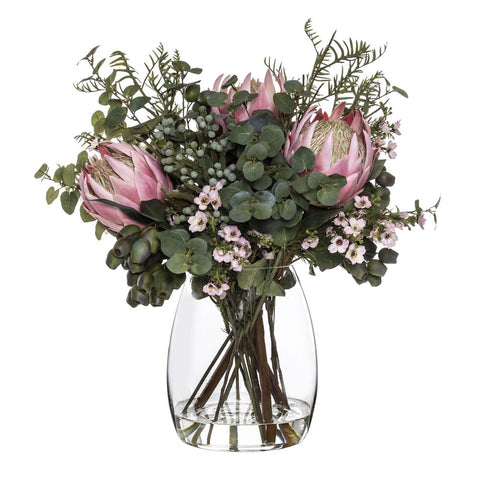 King Protea Wax Flower Mix Pink 61cmH