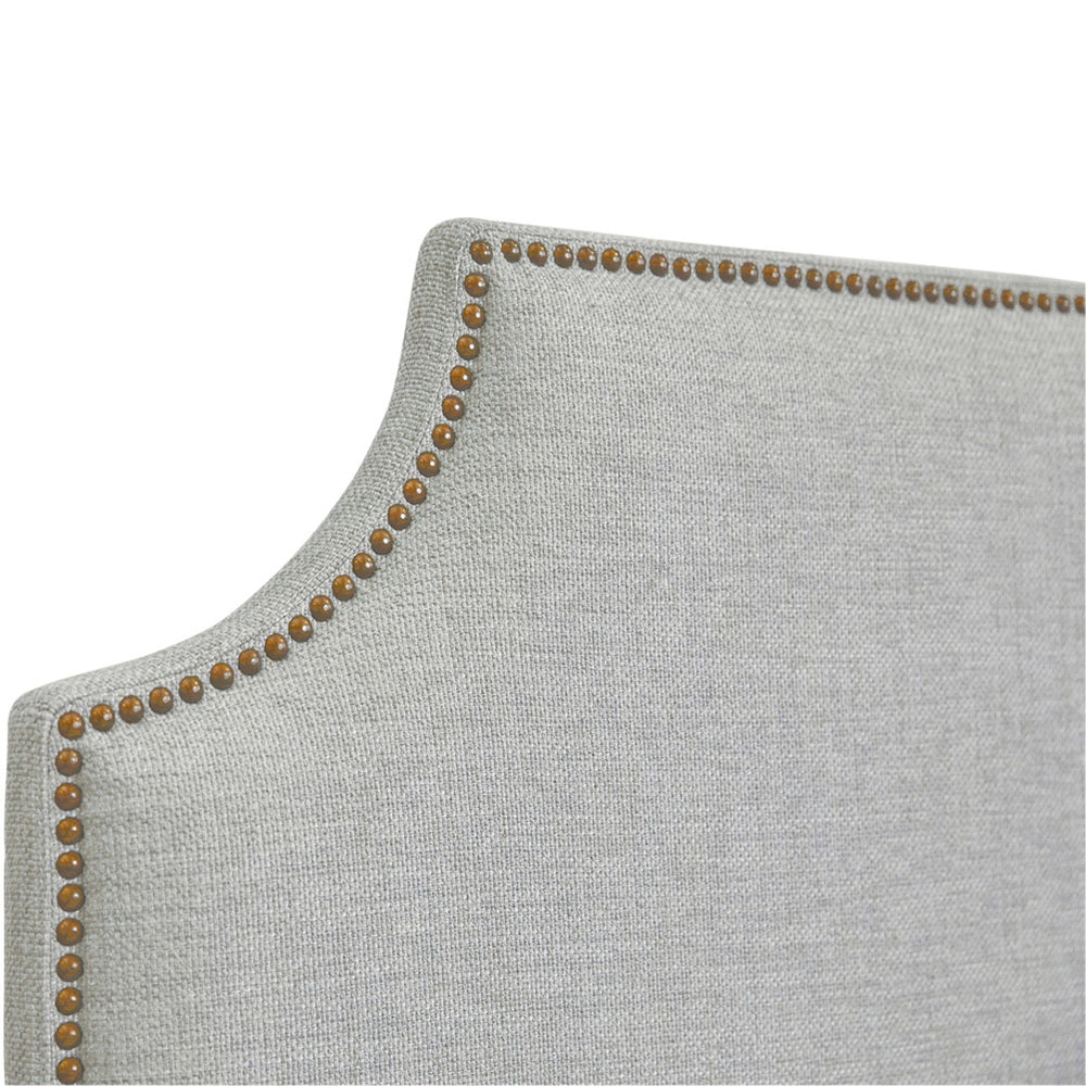 Scarlett Scalloped Queen Headboard Cool Grey