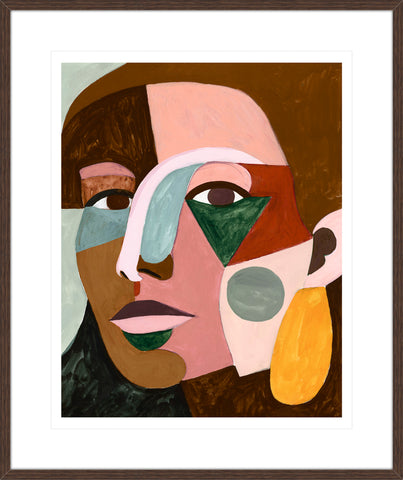 Geo Face III Framed Print