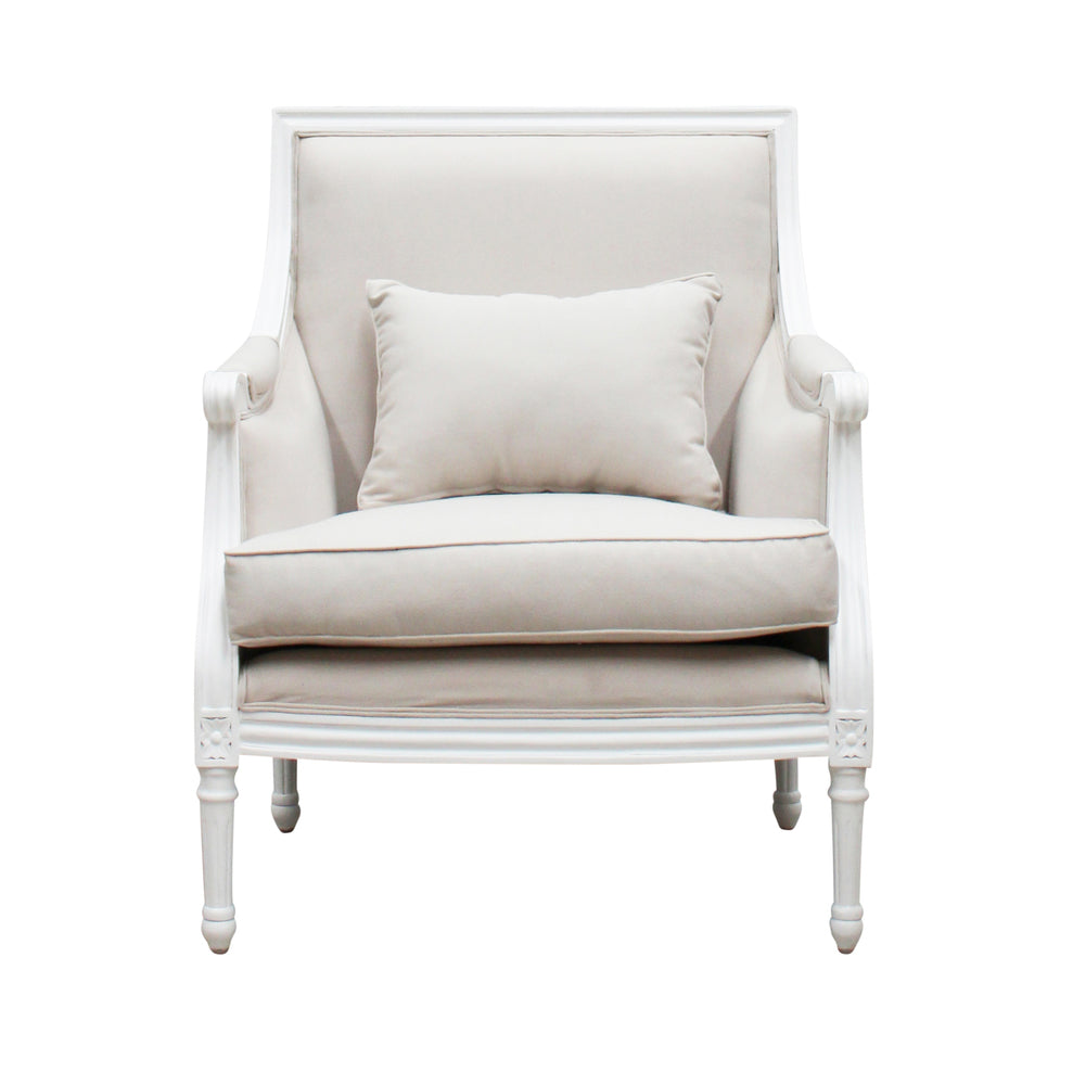 Jean Louis Armchair White