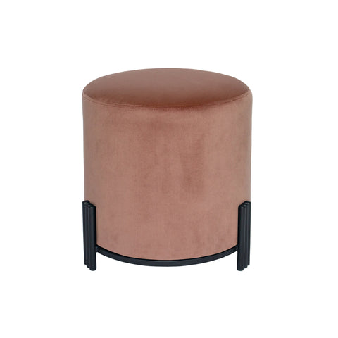 Paxton Ottoman/Low Stool Riva Natural with Champagne Base
