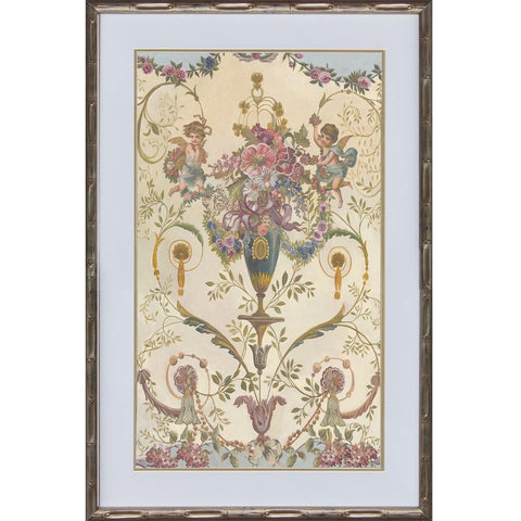 French Flower Panel I Framed Print