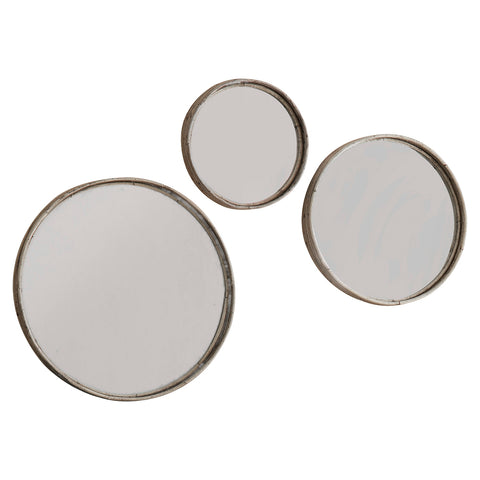 Eustice Set/3 Mirrors Charcoal