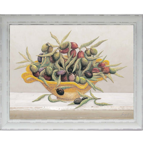 Custom Antique Protea On White I Framed Print