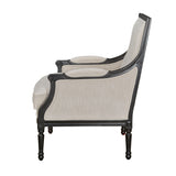 Alexander Arm Chair Black Ivory White