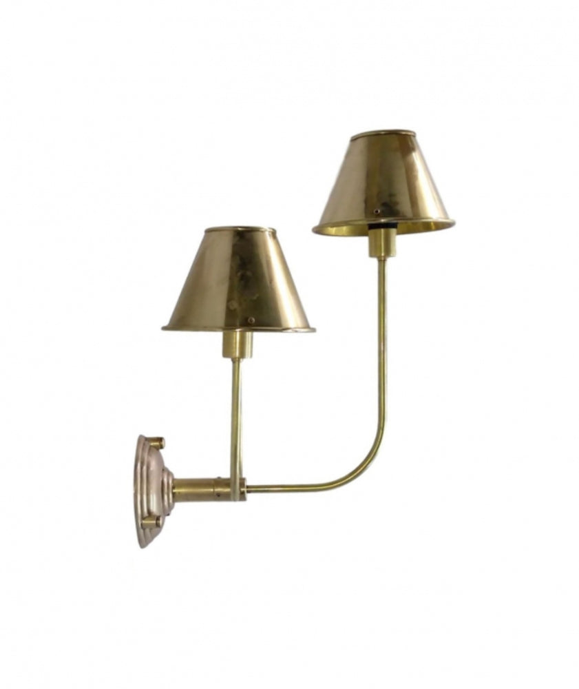 Dorsett Wall Lamp with Brass Shades