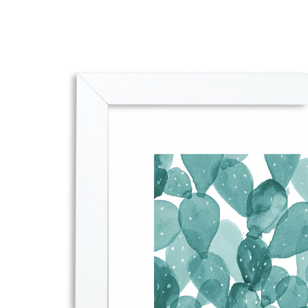 Mexitilli Teal Framed Print