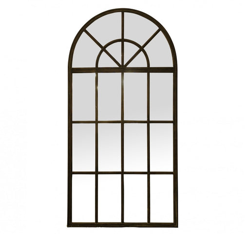 Large Iron Arch Mirror
