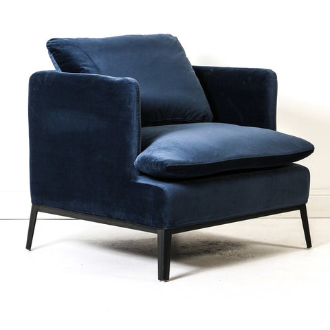 Loren Velvet Chair Navy