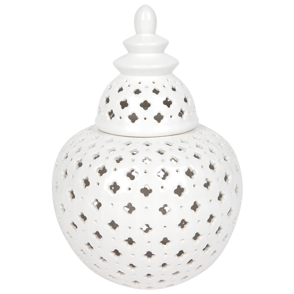 Miccah Temple Jar White Large