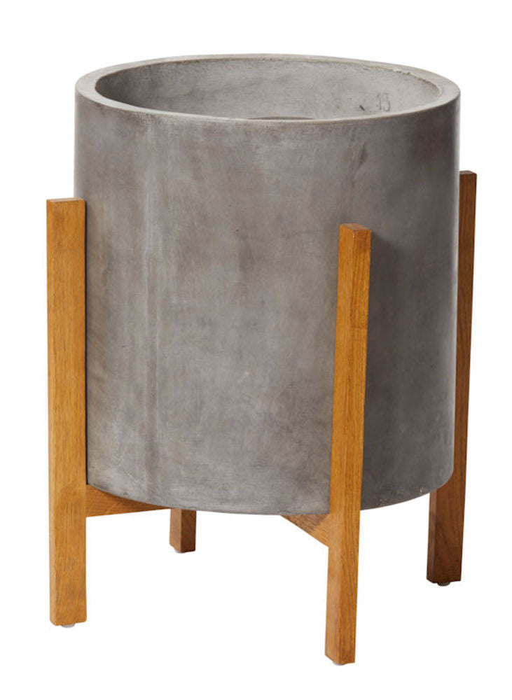Boston Planter Grey/Natural 55cm