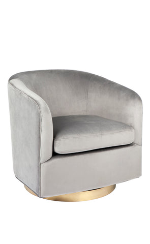 Belvedere Swivel Armchair Grey