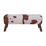 Sanga Cowhide Long Bench