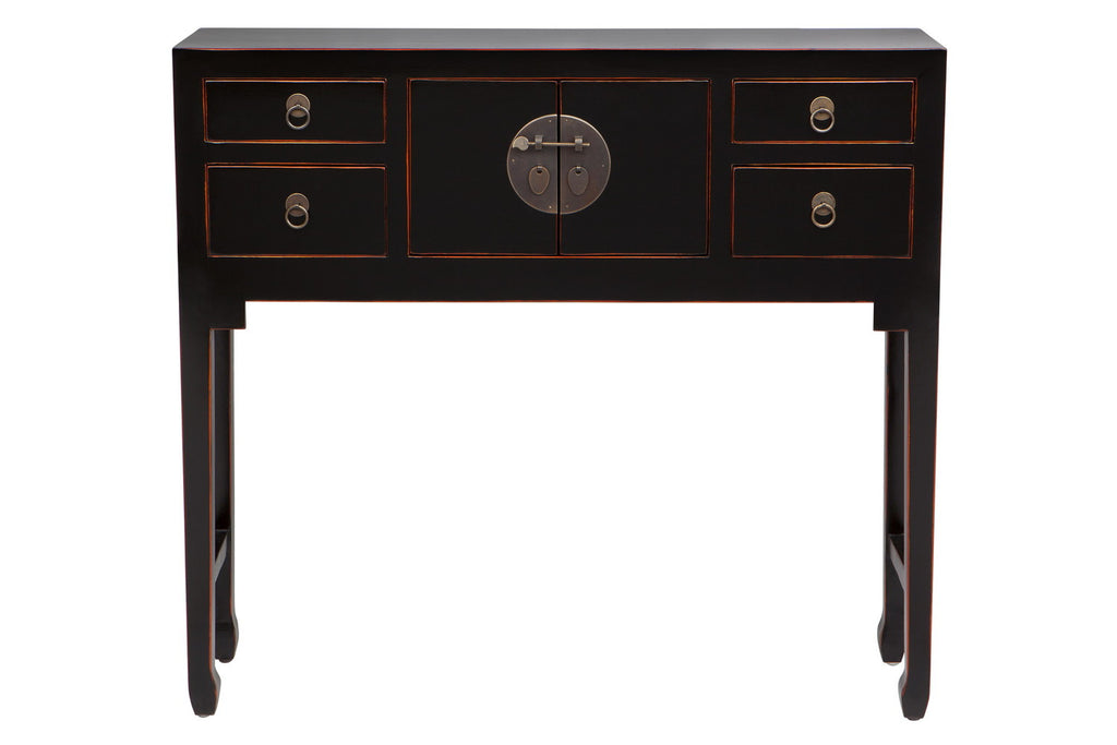 Kwan Console Table/Cabinet Black