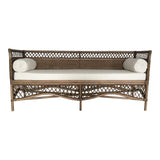 Rattan Day Bed/Sofa with Bolsters