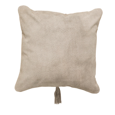 Textured Leather Cushion Hazelnut