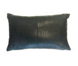 Nappa Textured Leather Cushion Black
