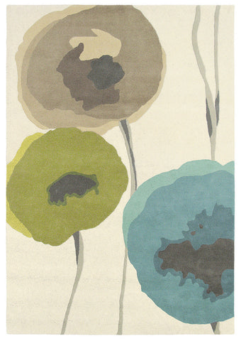 Sanderson Poppies Teal/Olive 45701 Rug
