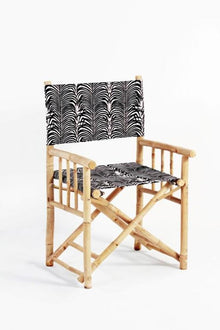 Martinez Directors Chair Black and White Print