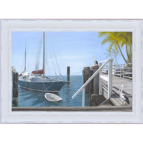 Hamptons Veranda Sea View Print