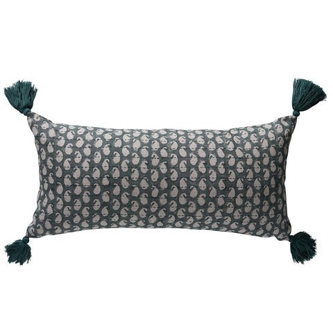 Balveer Kantha Sage Cushion