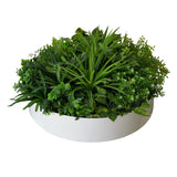 Artificial Indoor Green Wall Disc Art Philodendron 60cm