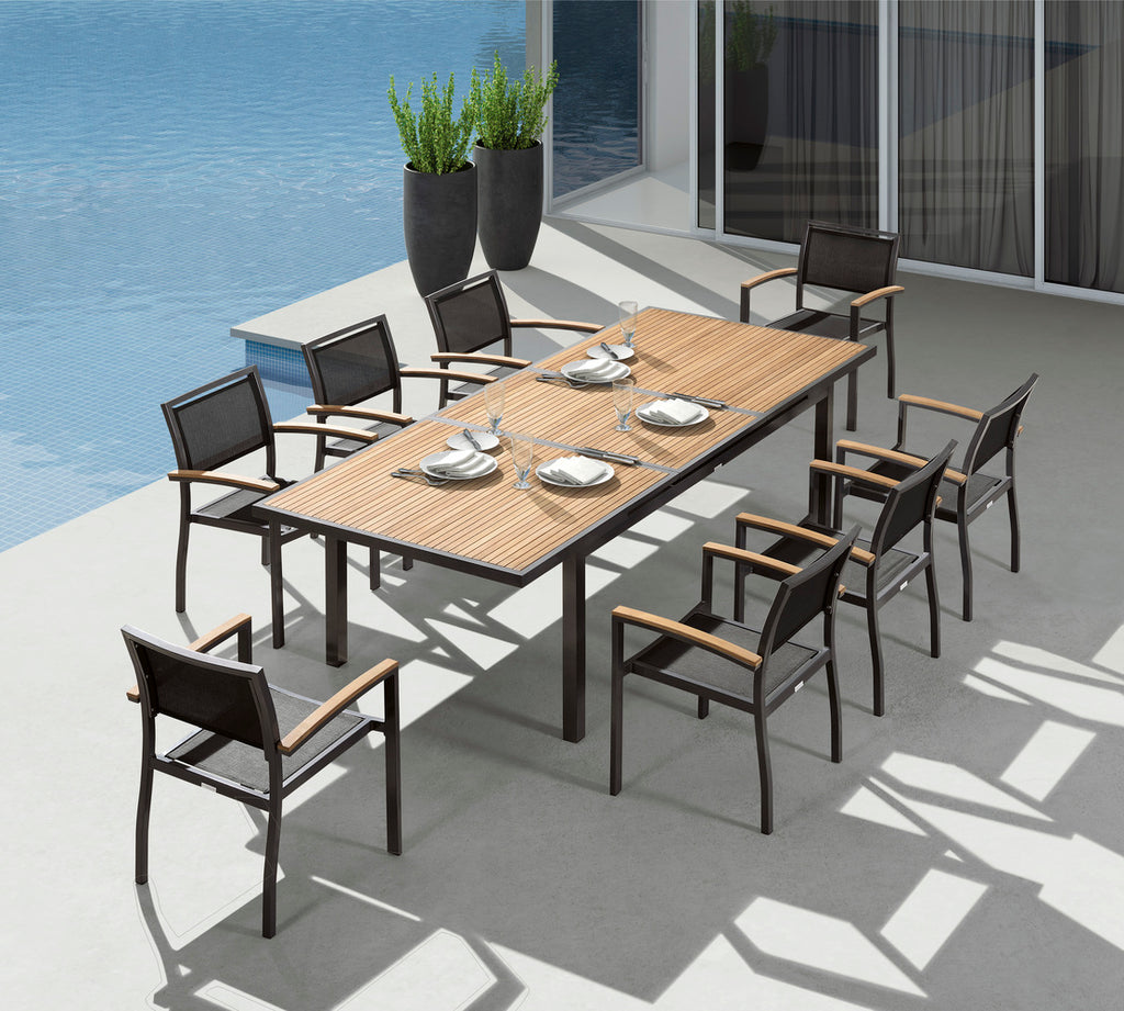 Heck Outdoor Extension Dining Set/9 Piece