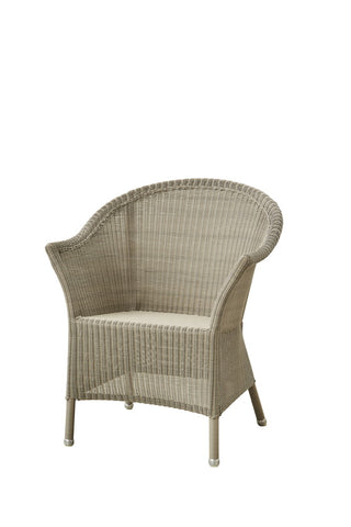 Lansing Outdoor Dining/Occasional Chair Taupe with Cushion Options