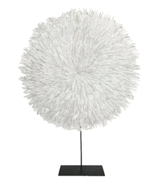 Zambezi Large Feather Disk White