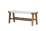 Sasha Belt Bench White