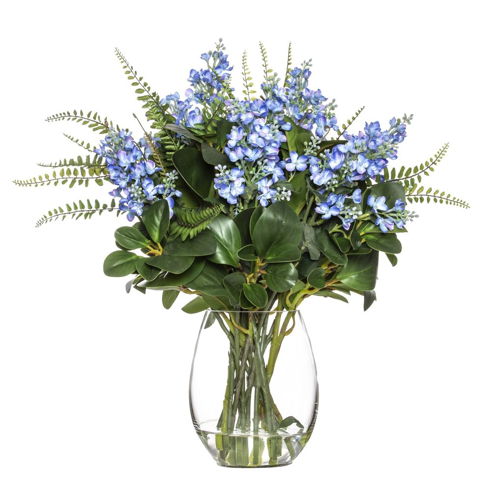 Lilac Mix in Claire Vase Blue