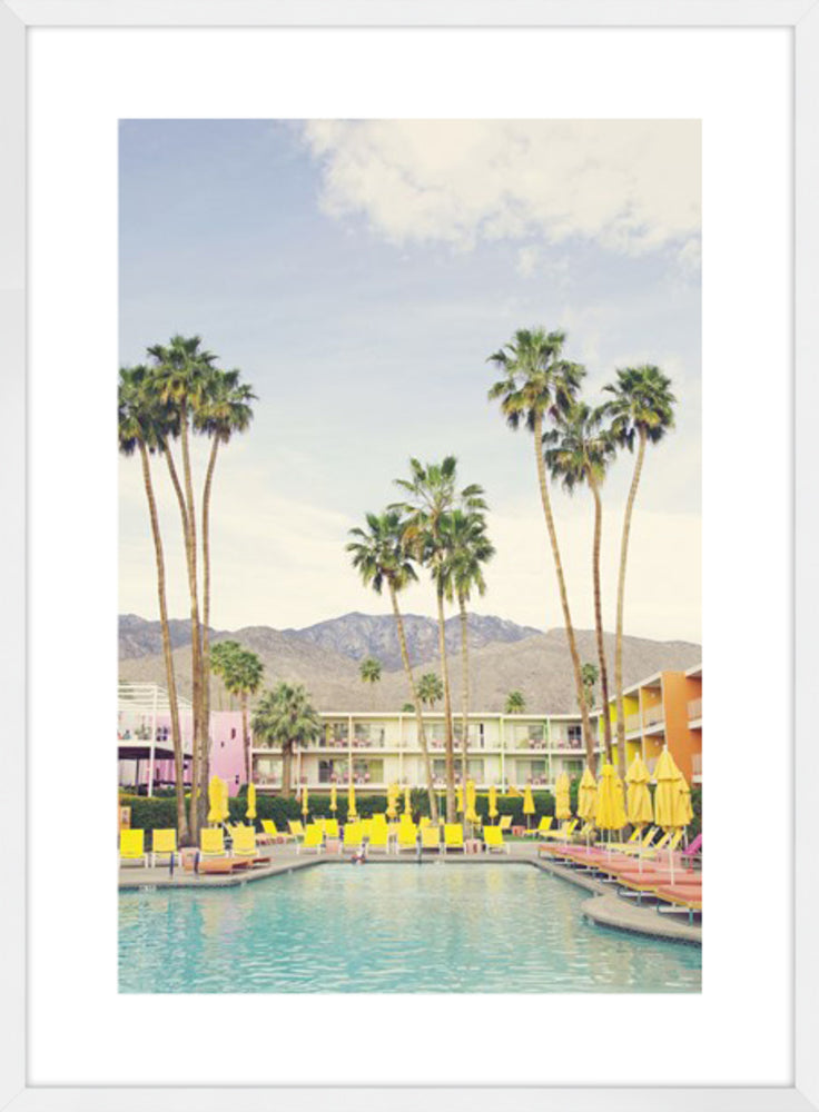 Poolside Cool Photographic Framed Print