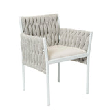 Powell Outdoor Dining Chair Ivory