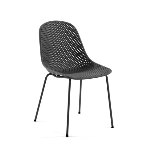 Quade Indoor/Outdoor Dining Chair Grey